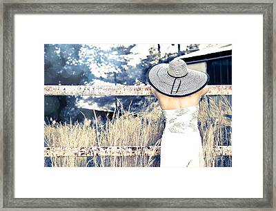 Hat And Fence Framed Print by Jt PhotoDesign