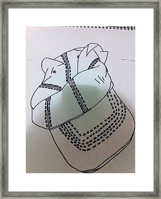 Hat Drawing Framed Print by Khoa Luu