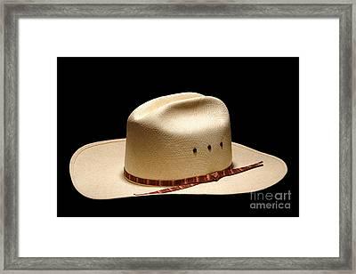 Hat On Black Framed Print by Olivier Le Queinec