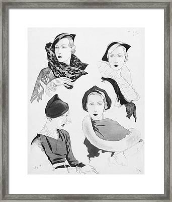 Hat Styles By Agnes Framed Print by Douglas Pollard