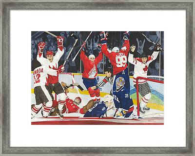 Hat Trick Framed Print by Ronald Wilkie