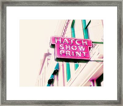 Hatch Show Print Framed Print by Amy Tyler