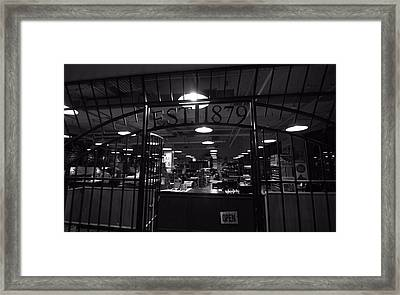 Hatch Show Print Black And White Framed Print by Dan Sproul
