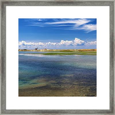 Hatches Harbor Square Framed Print by Bill Wakeley