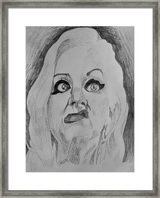 Hatchet Face Framed Print by Jeremy Moore