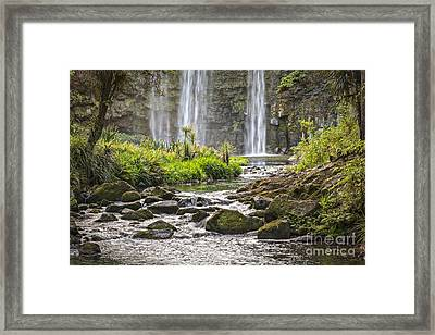 Hatea River And Whangarei Falls New Zealand Framed Print