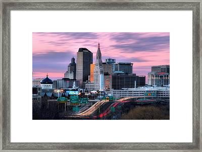 Hartford Connecticut Framed Print by Andrea Galiffi