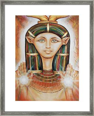 Hathor Rendition Framed Print