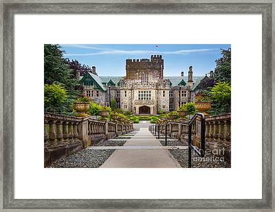 Hatley Castle Framed Print by Inge Johnsson