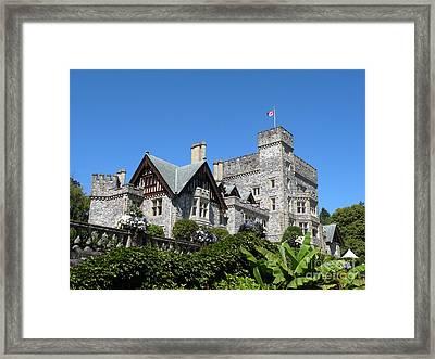 Hatley Castle Framed Print by Val Carosella