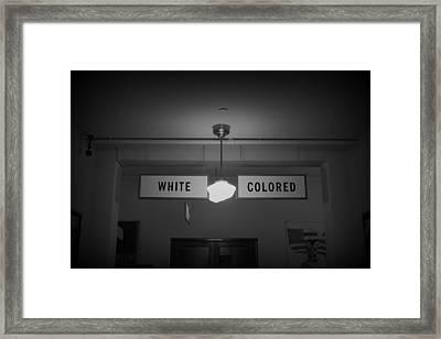 Hatred Bw Framed Print