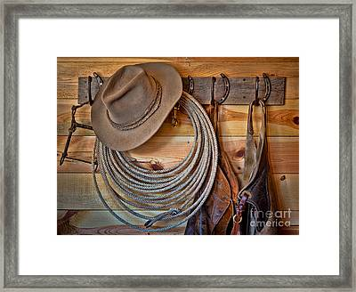 Hats And Chaps Framed Print by Inge Johnsson