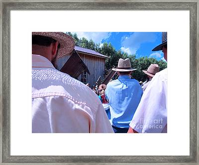 Hats And Shirts Framed Print