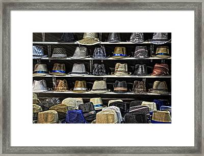 Hats For Sale Framed Print by Ken Smith