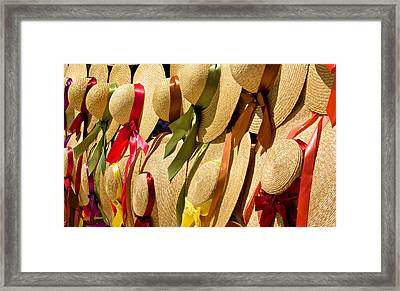 Hats Galore Framed Print by Kathi Isserman