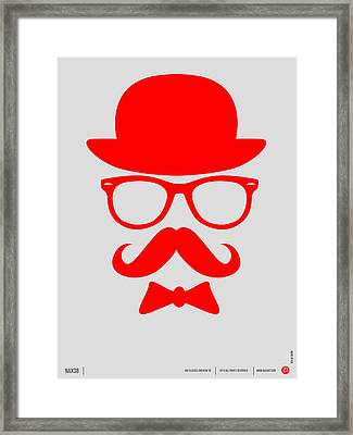 Hats Glasses And Mustache Poster 3 Framed Print by Naxart Studio