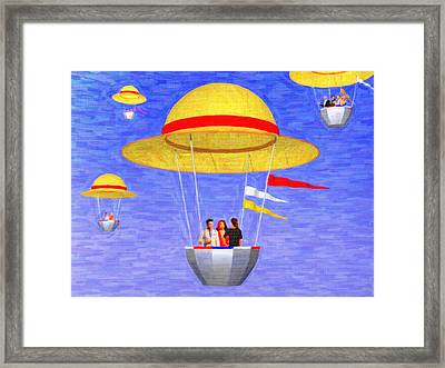 Hats In The Air Framed Print by Andreas Thust