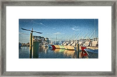 Hatteras Harbor Marina Framed Print