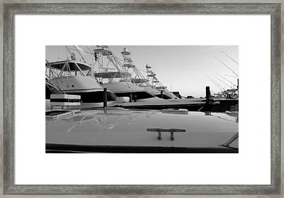 Hatteras Marlin Club Framed Print by Karen Rhodes