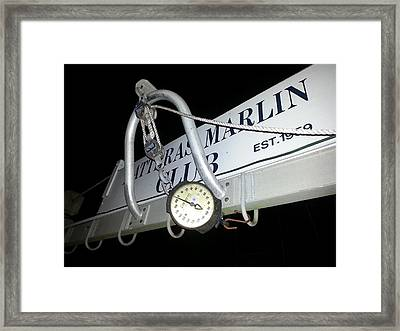 Hatteras Marlin Club Scales Framed Print by Karen Rhodes