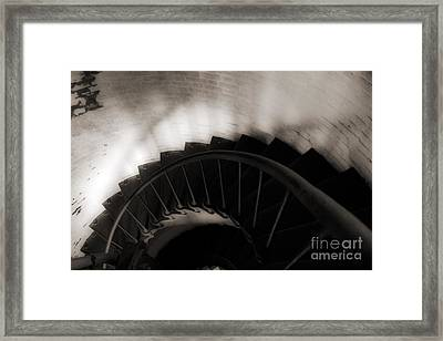 Framed Print featuring the photograph Hatteras Staircase by Angela DeFrias