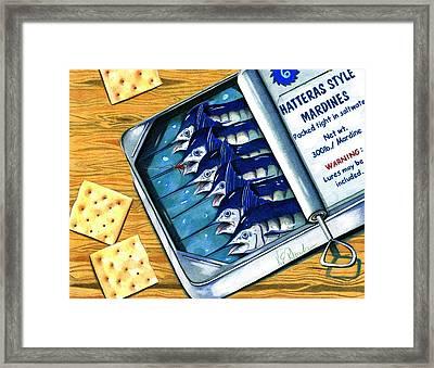 Hatteras Style Mardines Framed Print by Karen Rhodes