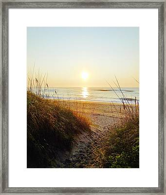 Hatteras Sunrise 17 8/6 Framed Print by Mark Lemmon