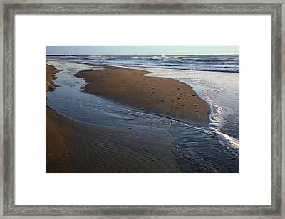 Hatteras Tidal Pools Framed Print by Steven Ainsworth
