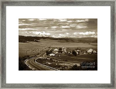 Hatton Ranch Carmel Valley From Highway One California  1940 Framed Print