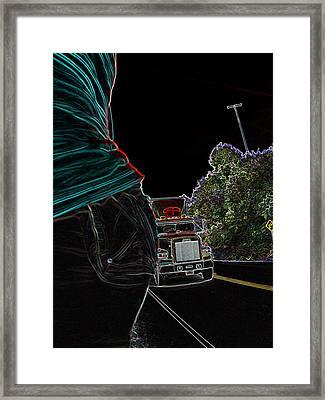 Haulin Ass Framed Print