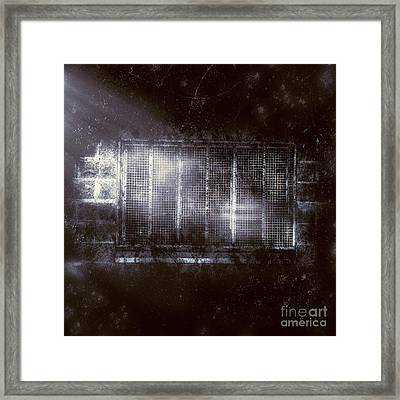 Haunted Asylum Window Framed Print by Jorgo Photography - Wall Art Gallery