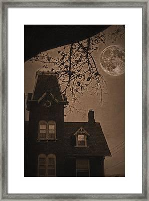 Haunted Framed Print by DJ Florek