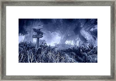 Haunted Forest Framed Print by Marina Likholat