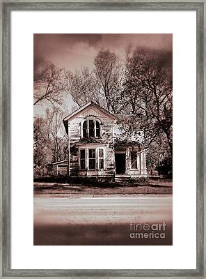 Haunted House Framed Print by Birgit Tyrrell