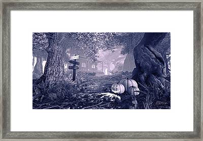 Haunted House Bw Framed Print