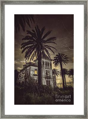 Haunted House Framed Print by Carlos Caetano