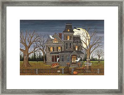Haunted House Framed Print by David Carter Brown