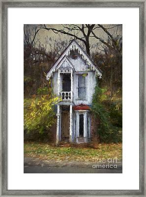 Haunted House Framed Print by Elena Nosyreva