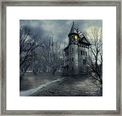Haunted House Framed Print by Jelena Jovanovic