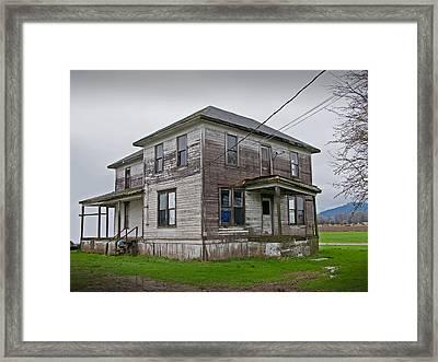 Haunted House Of Skagit County Framed Print by Kent Sorensen