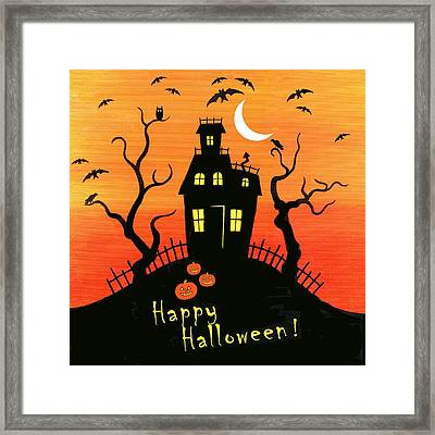 Haunted House Part One Framed Print by Linda Mears