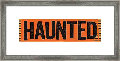 Haunted Framed Print by Katie Doucette