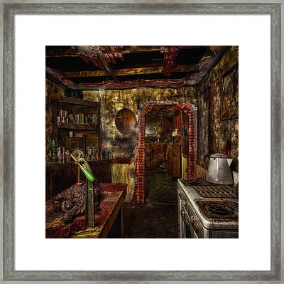 Haunted Kitchen Framed Print