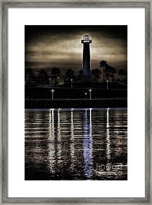 Haunted Lighthouse Framed Print by Mariola Bitner