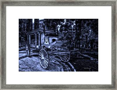 Haunted Mansion Hearse At Midnight New Orleans Disneyland Framed Print by Thomas Woolworth