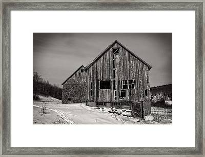Haunted Old Barn Framed Print