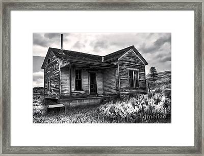 Haunted Shack - 01 Framed Print by Gregory Dyer