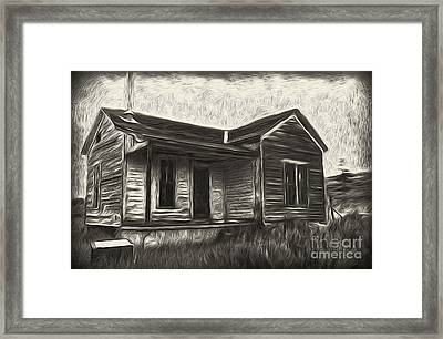 Haunted Shack - 02 Framed Print by Gregory Dyer