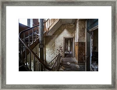 Haunted Staircase Urban Exploration Framed Print by Dirk Ercken