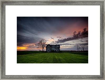 Haunted Sunset Framed Print by Cale Best